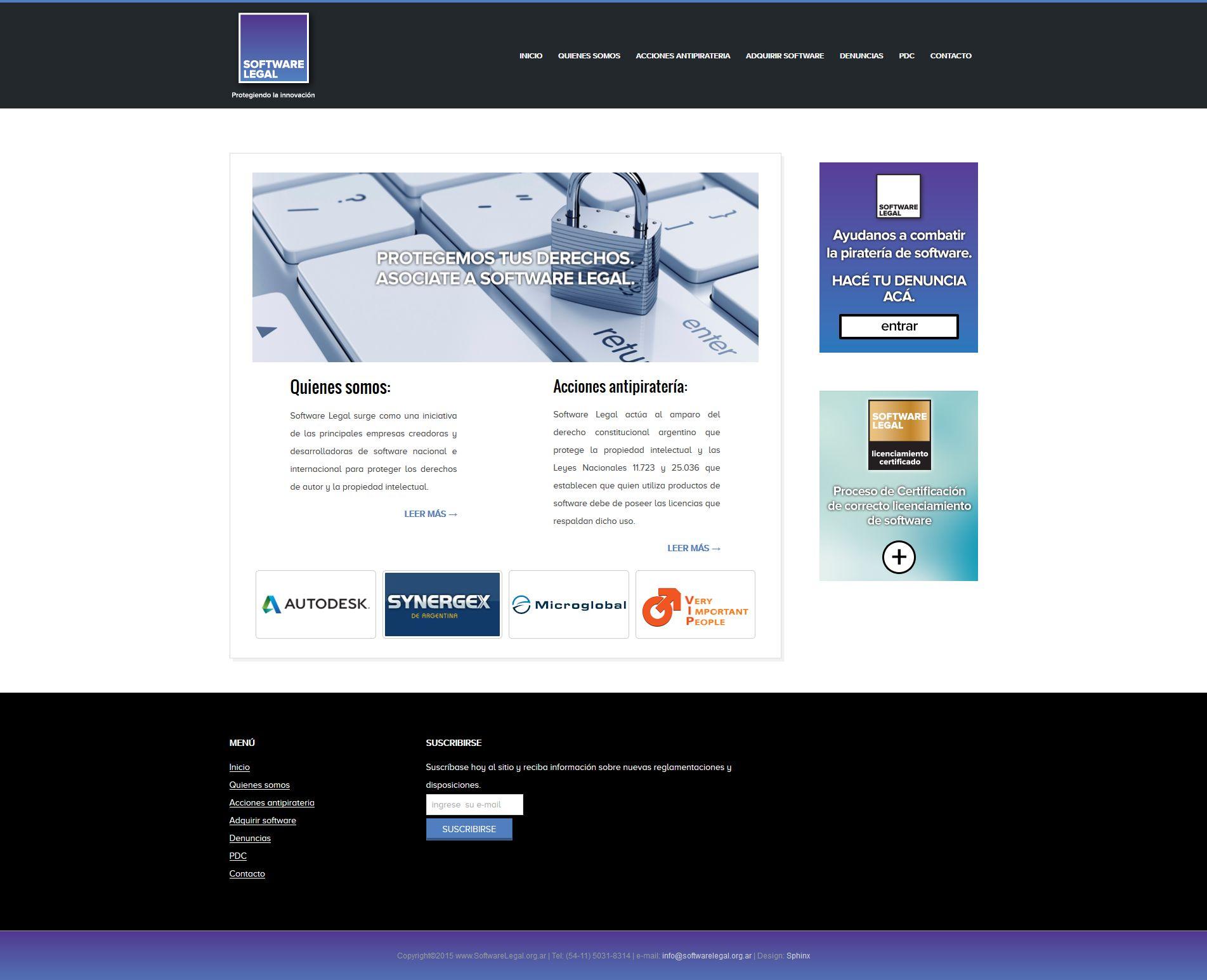 softwarelegal_org_ar2 Portfolio